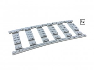 Ballast Plate R120 Set - 8 pieces for 8 R120 tracks