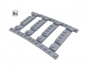 Ballast Plate R72 Left - 8 pieces for 8 tracks