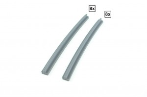 Curved Rails R72A + R72D Set 8x + 8x