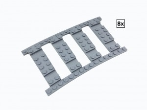 Ballast Plate R88 Set - 8 pieces for 8 R88 tracks
