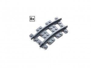 Narrow Curved Track R24 Set 8x (Half Circle)