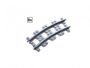 Narrow Curved Track R36 Set 8x (Half Circle)