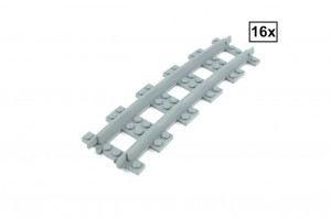 Narrow Curved Track R96 Set 16x (Half Circle)