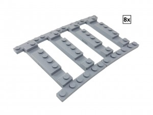 Ballast Plate R72 Right - 8 pieces for 8 tracks