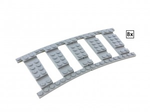 Ballast Plate R56 Set - 8 pieces for 8 R56 tracks
