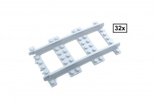R136 Curved Track Set, 32 Sections, Half Circle