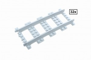 R168 Curved Track Set, 32 Sections, Half Circle