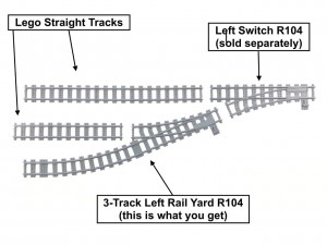 3-Track Left Rail Yard R104
