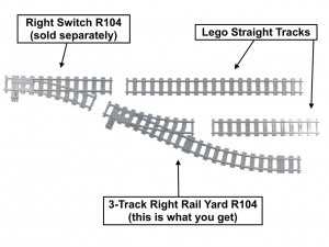 3-Track Right Rail Yard R104