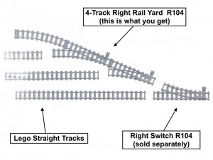 4-Track Right Rail Yard R104
