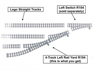 4-Track Left Rail Yard R104