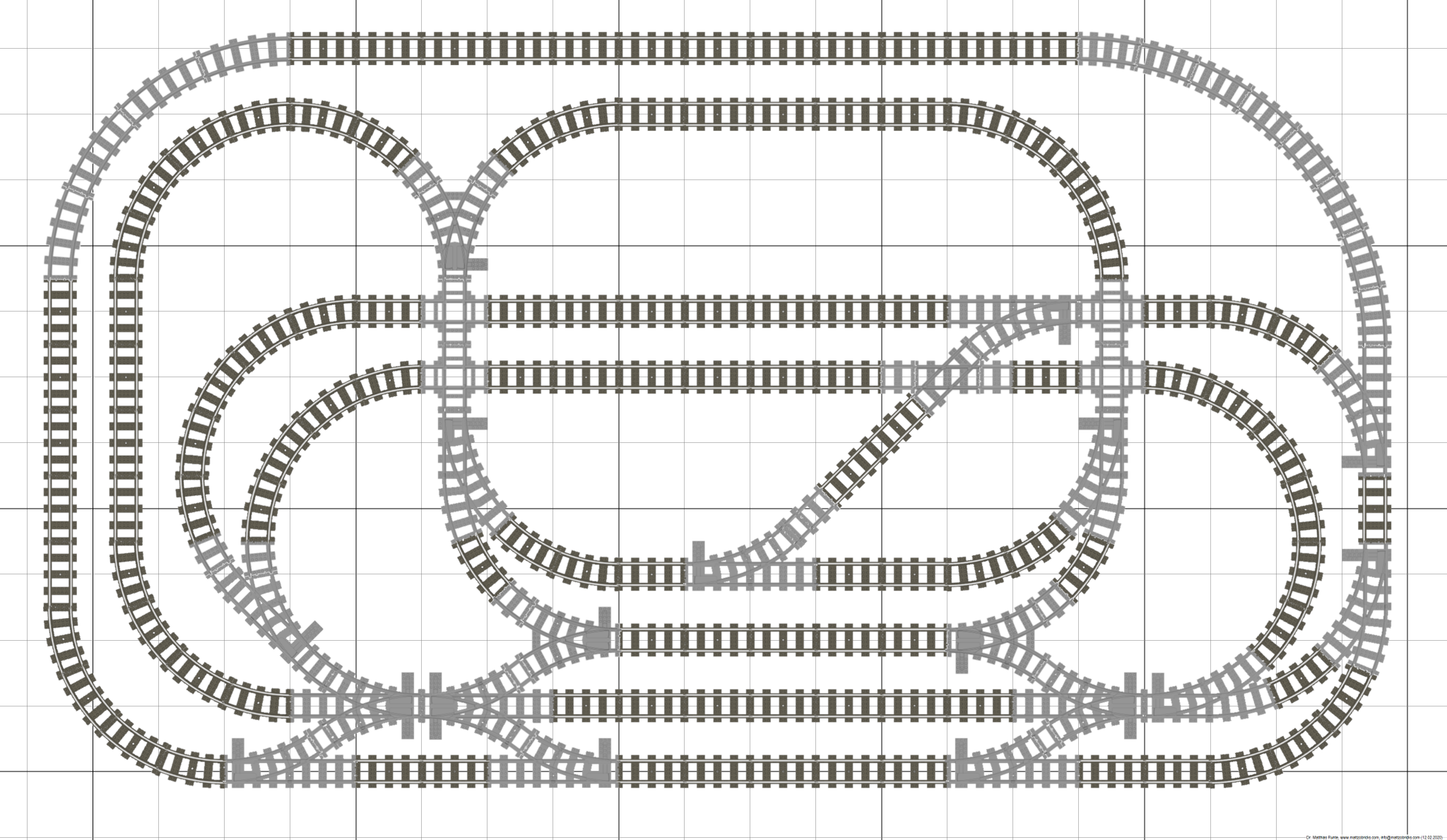 Trixbrix Eu Lego Compatible Train Tracks